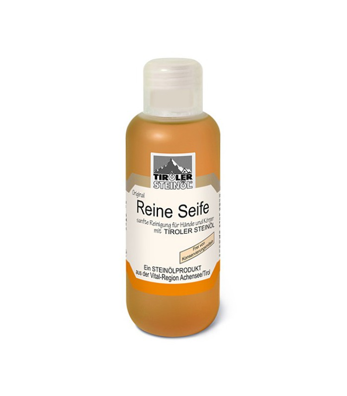 Přírodní tekuté mýdlo s kamenným olejem: 200–500 ml