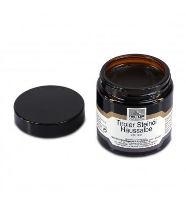Tyrolská domácí mast s kamenným olejem: otevřená